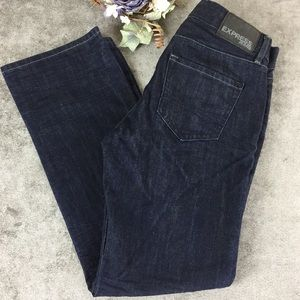 Express Dark Wash Rocco Slim Fit Boot Cut Jeans